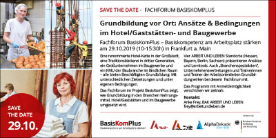 Save the Date Fachforum BasisKomPlus 2019 07 22