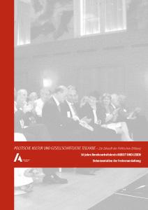 Politische Bildung für die soziale Demokratie