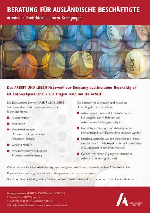 Beratung für ausländische Beschäftigte (Flyer)