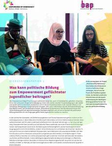 Was kann politische Bildung zum Empowerment gelfüchteter Jugendlicher beitragen?