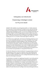 Stellungnahme zum Schlussbericht der Expertenkommmission